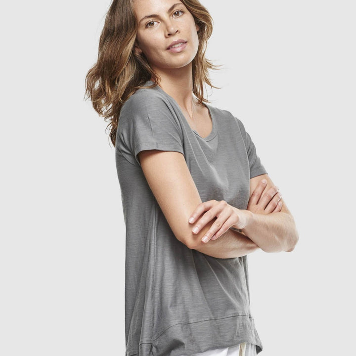 Charcoal GOTS Cotton Tee by Cloth & Co