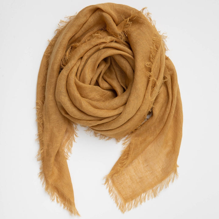 Cloth & Co Linen Scarf Turmeric