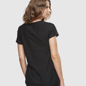 Organic Cotton Slub T-Shirt - Black