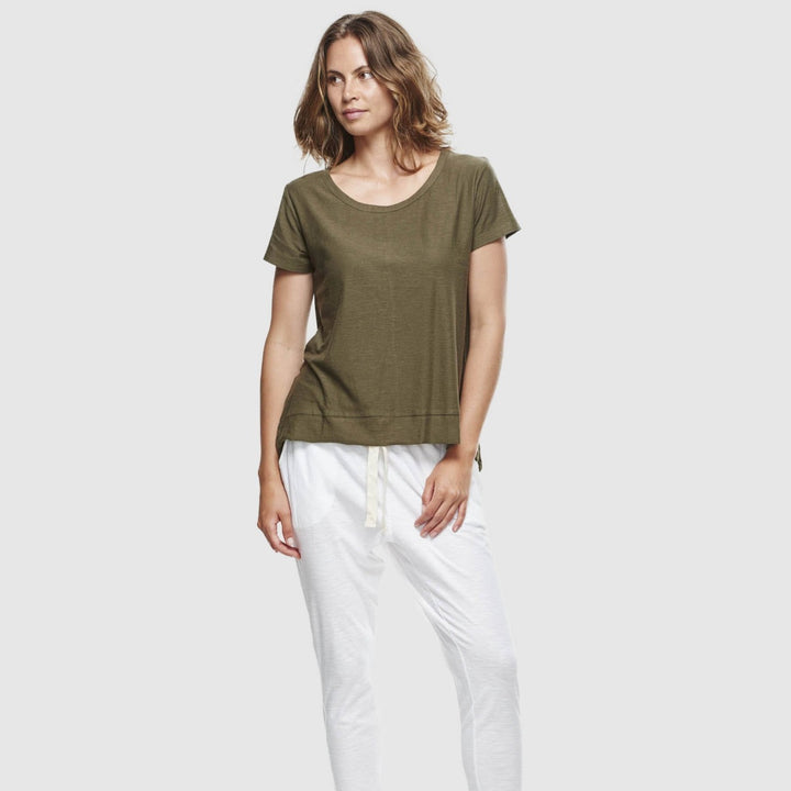 Organic Cotton Slub T-Shirt - Olive