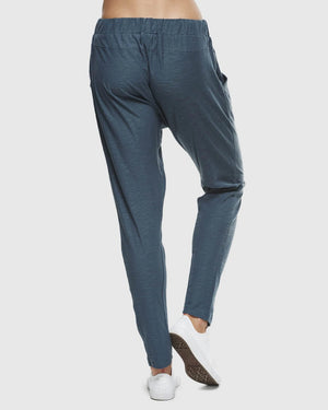 Organic Cotton Slub Lounge Pant - Teal