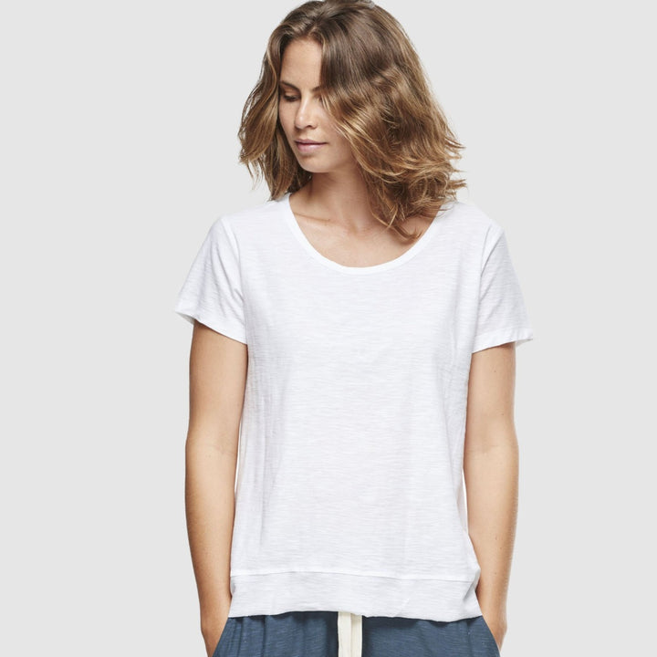 Organic Cotton Slub T-Shirt - White