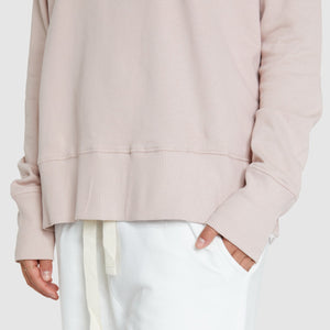 Raglan Terry Sweat - Dusty Rose
