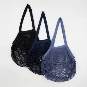 Cloth and Co. Organic Cotton String Bags - Set of 3 - Blue Palette
