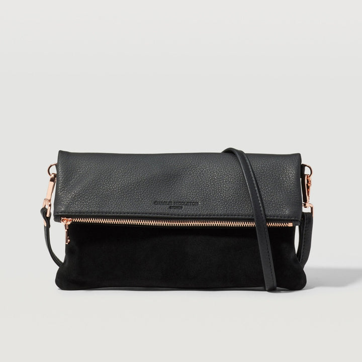 Black Two-Tone Weekend Crossbody Bag