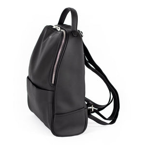 A_C Official Darcy Daypack - Cactus Leather Black Vegan Backpack