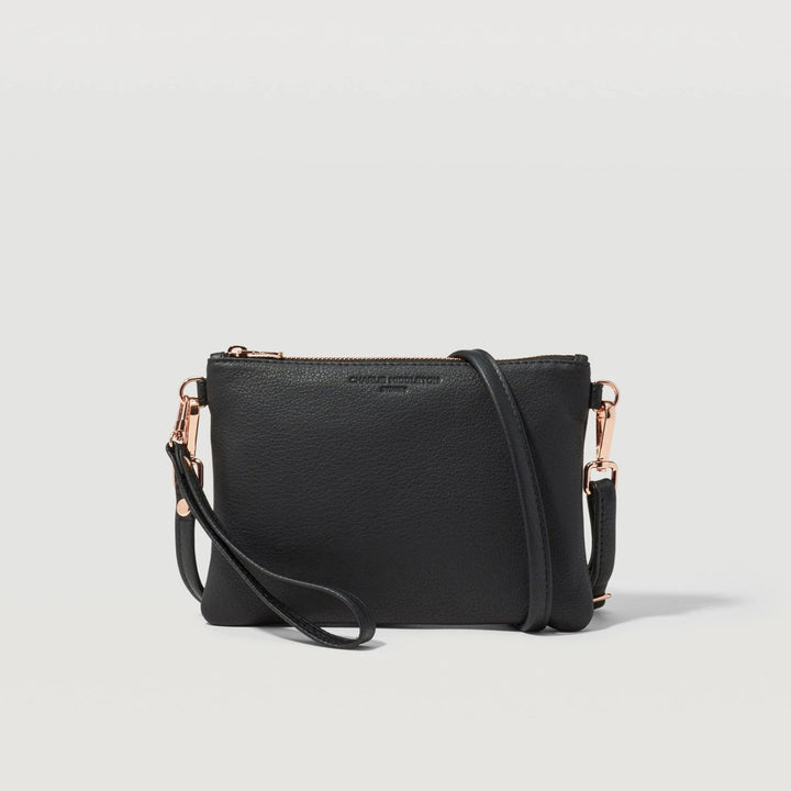 Black Nappa Essentials Crossbody Bag