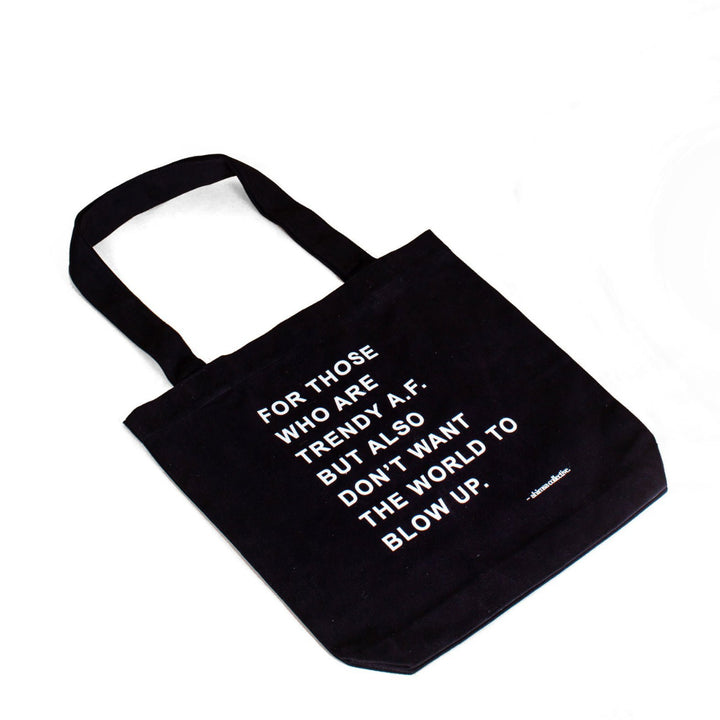 The Ahimsa Collective Trendy A.F Tote Bag - Black