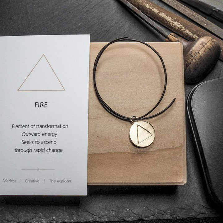 Fire Pendant - Gold by Smith & Poet | NASH + BANKS