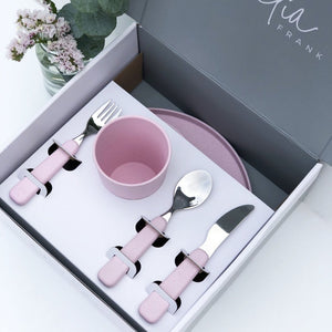 Kids Bamboo Dinner Set - 6 Piece - Sunset Rose
