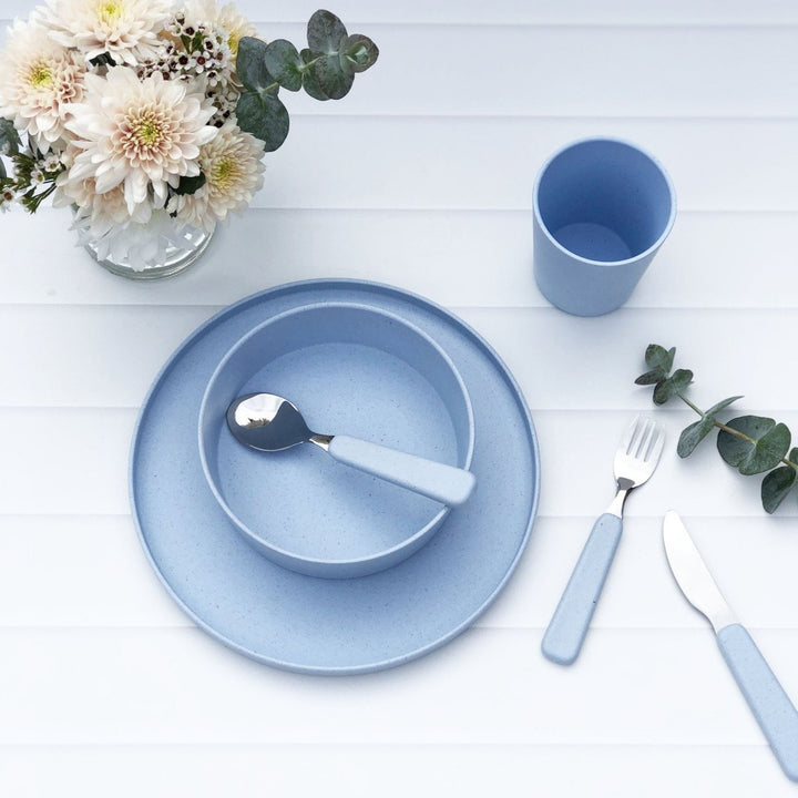 Kids Bamboo Dinner Set - 6 Piece - Summer Sky