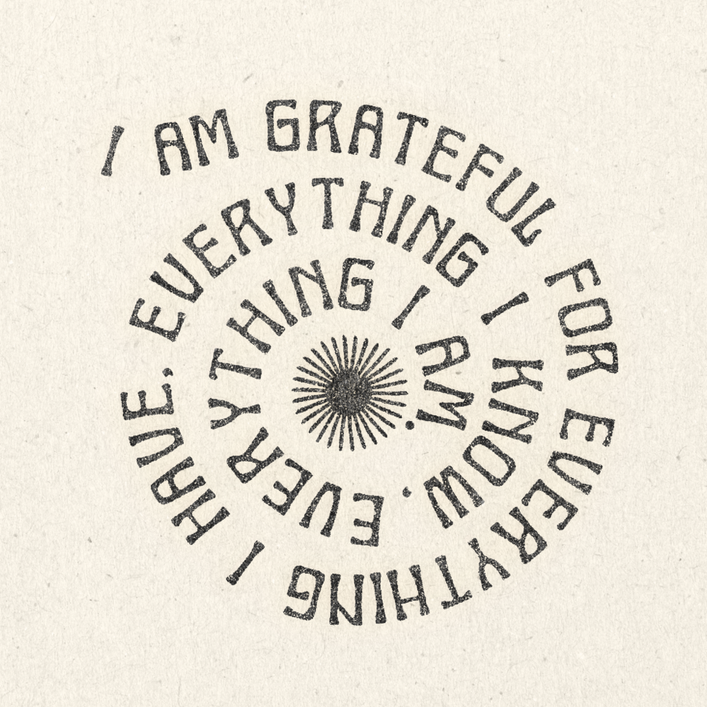 "'Grateful' Print - 11"" x 11"" by Real Fun Wow!"