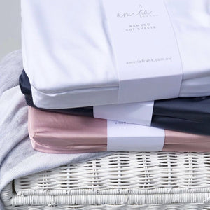 Bamboo Cot Sheets - Dusty Rose - 2 x Fitted Sheets