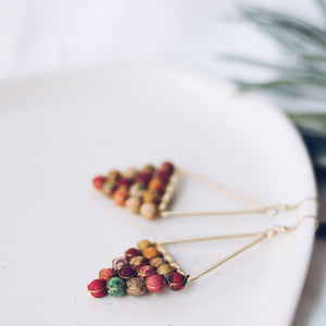 Upcycle Textile Pendant Earrings