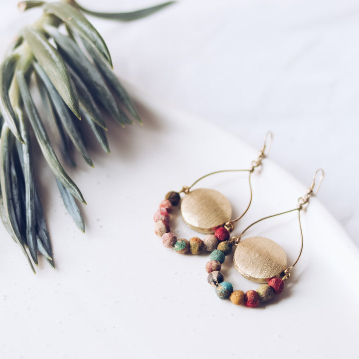 Upcycle Terra Warm Earrings