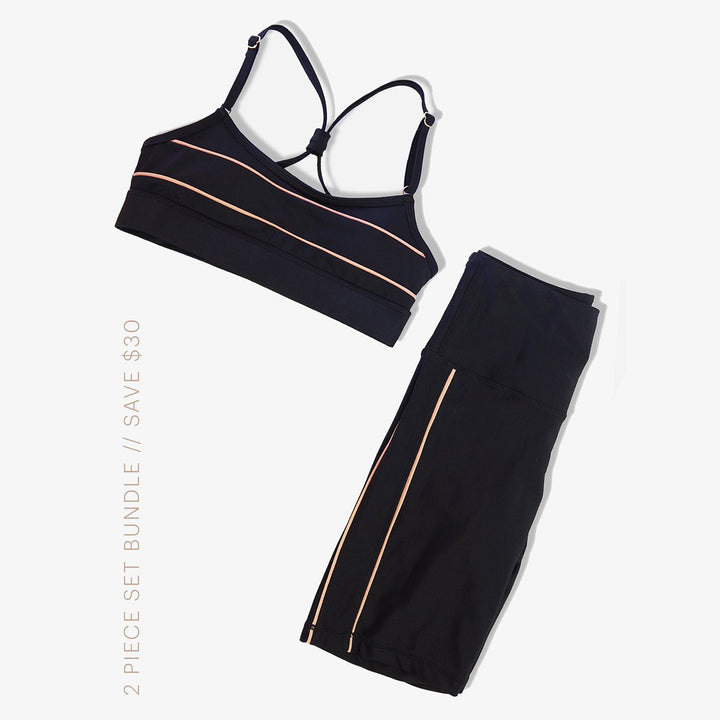 In Your Element Crop Top + Shorts - 2-Piece Bundle