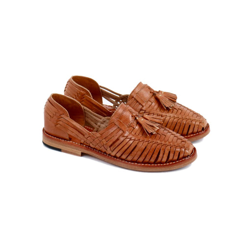 Mexican Sole Kahlo Huaraches Cognac
