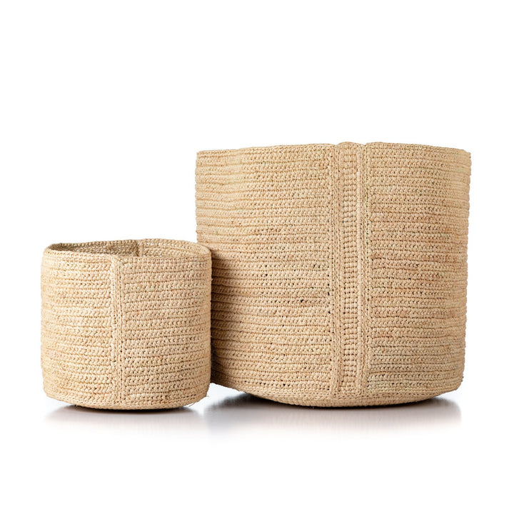 Kiazo Raffia Planter Baskets by Tanora