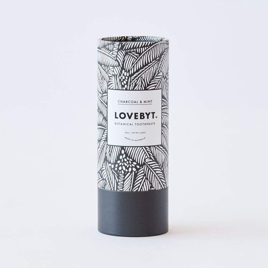 LOVEBYT Charcoal & Mint Natural Toothpaste - Fresh & Whitening