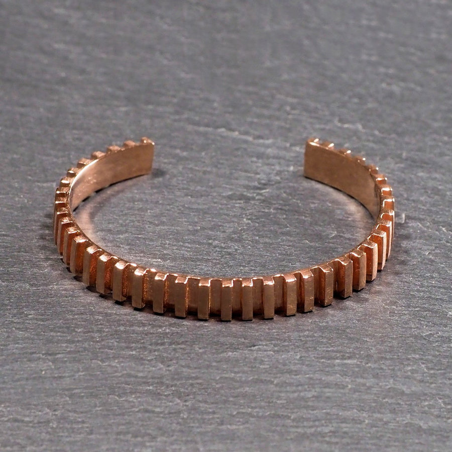 Smith & Poet - Linear Cuff Bracelet - Rose Gold