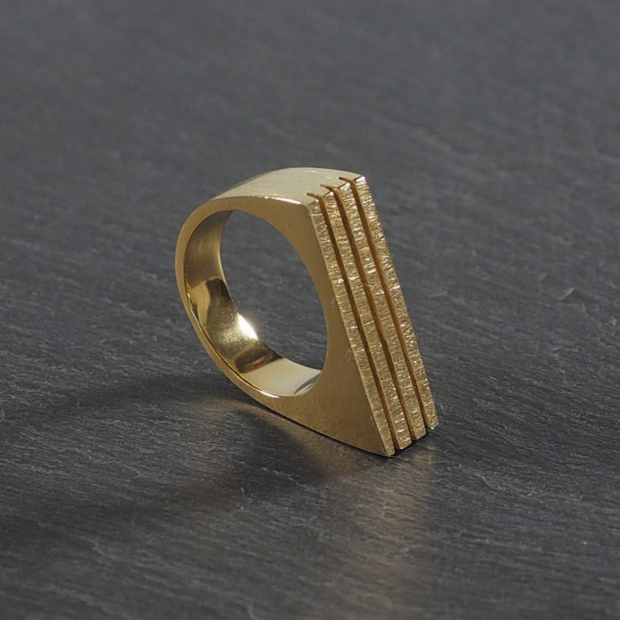 Angulo Ring 24kt Yellow Gold by Smith and Poet