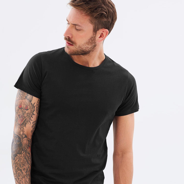 Organic Cotton Mens T-Shirt (Black) by Cloth & Co