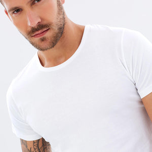 Organic Cotton Mens T-Shirt  - White by Cloth & Co