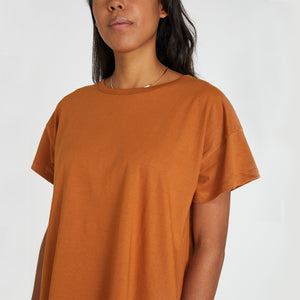 Classic Vintage Organic Cotton Tee - Red Earth