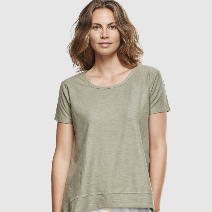Organic Cotton Slub T-Shirt - Sage