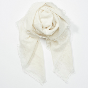 Cashmere Linen Scarf - Ivory