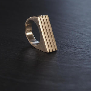 Angulo Ring Silver by Smith and Poet