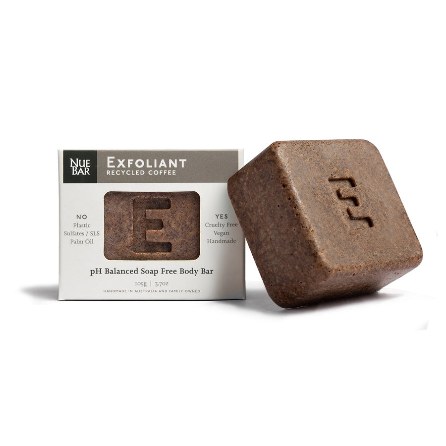 NueBar Solid Recycled Coffee Body Exfoliation Bar