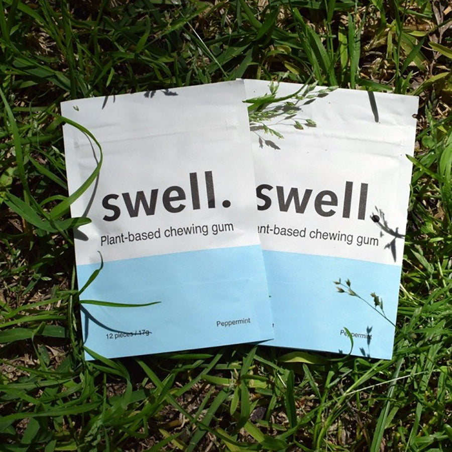 Swell Natural Plant-Based Plastic-Free Chewing Gum