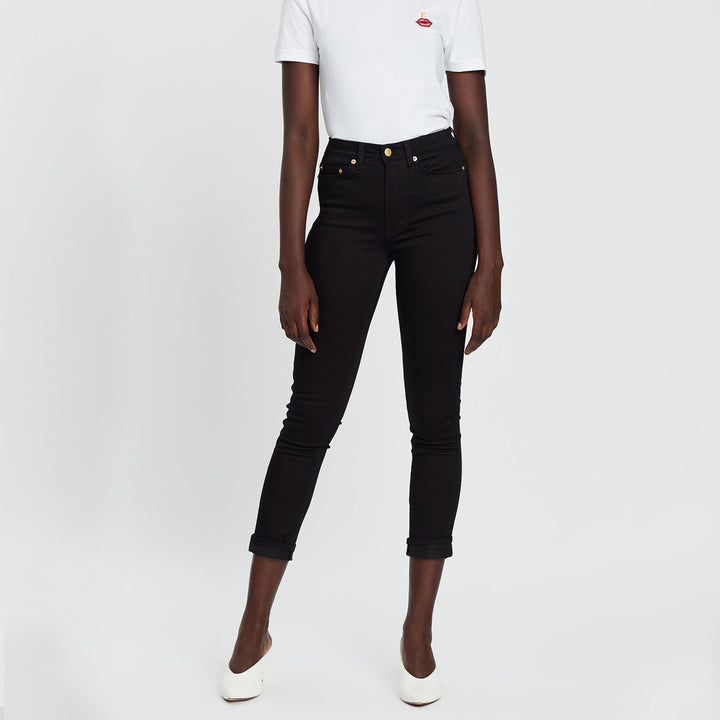 The 7/8 Skinny Super Stretch Denim Jeans by Elvie & Leo