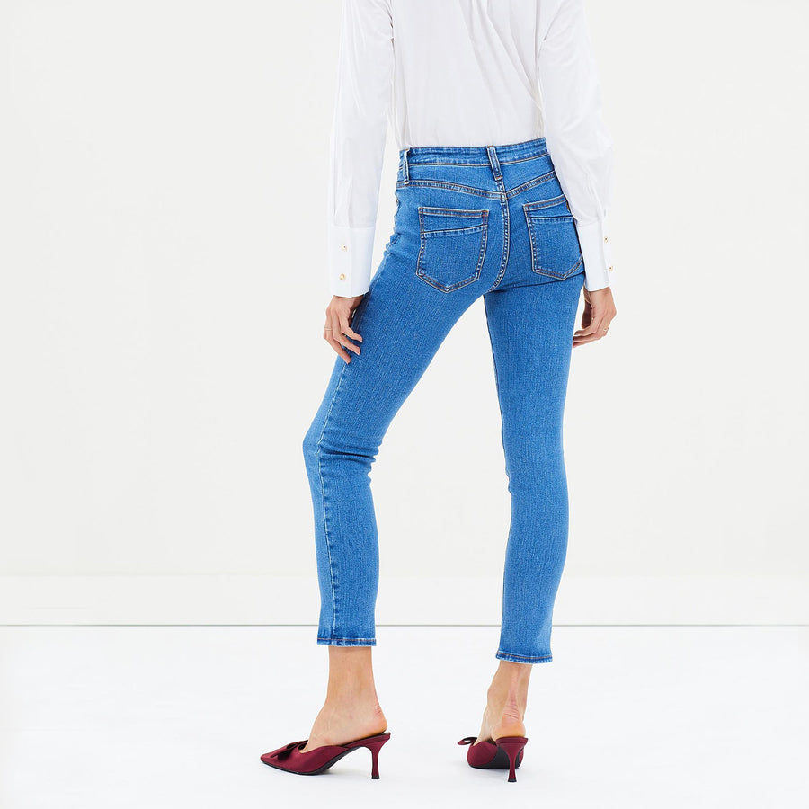 The 7/8 Skinny Jean - Charlotte Blue by Elvie & Leo