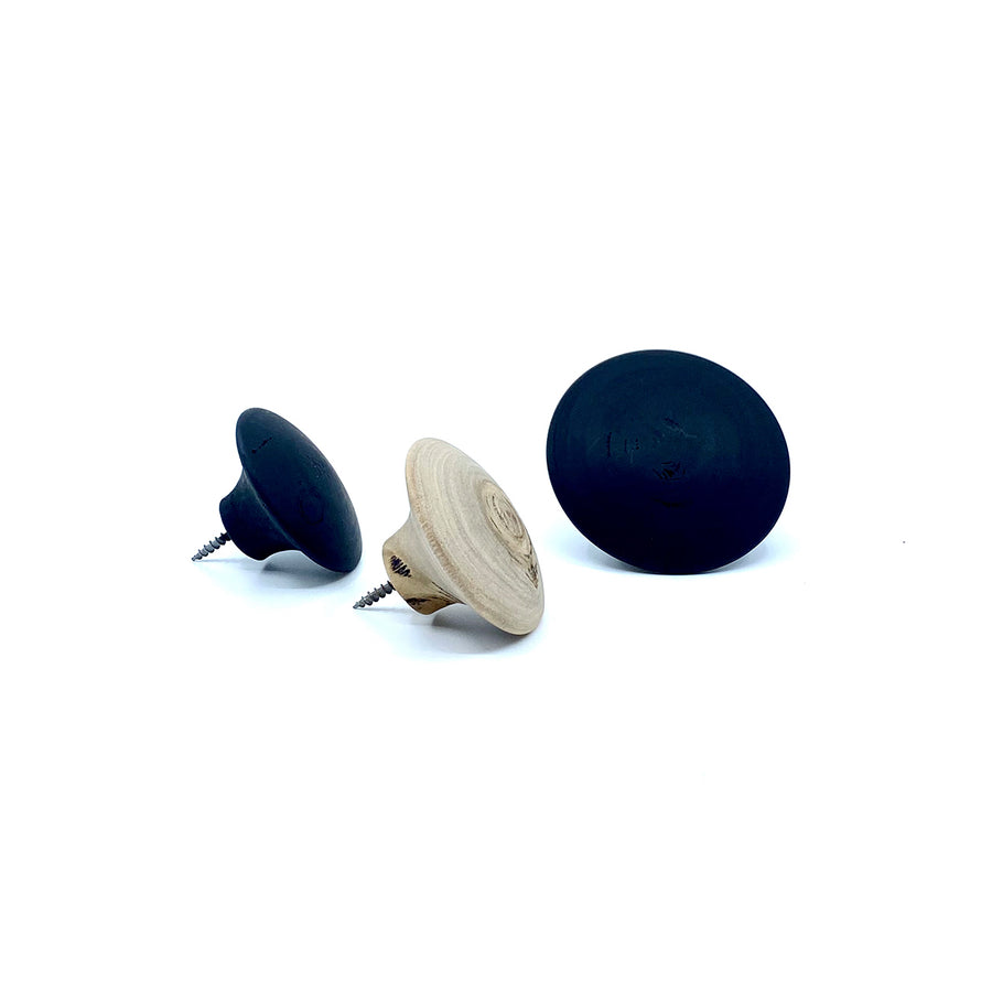 Round Wooden Wall Hooks - Small