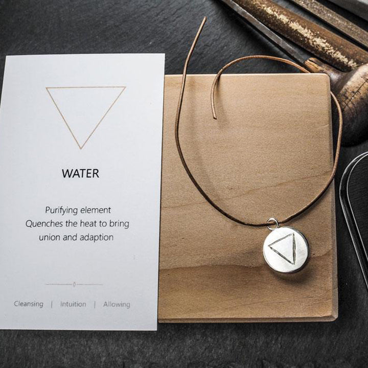 Water Pendant - Silver by Smith & Poet | NASH + BANKS