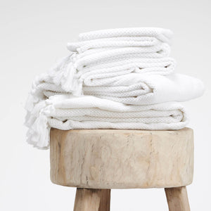 Certified Organic Cotton Guest Towel - White