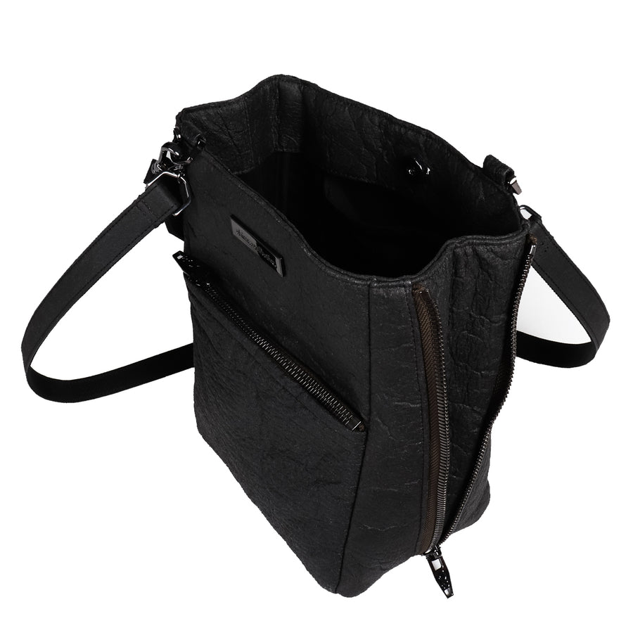 Zip The Lip Piñatex Backpack - Smoke & Gunmetal