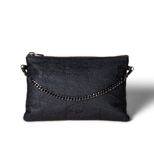 Ahimsa Collective Black Piñatex Clutch Courage - Vegan Sustainable Handbag