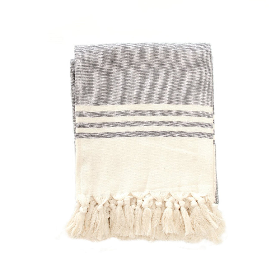 Cloth & Co Organic Cotton Beach Towel - Coal