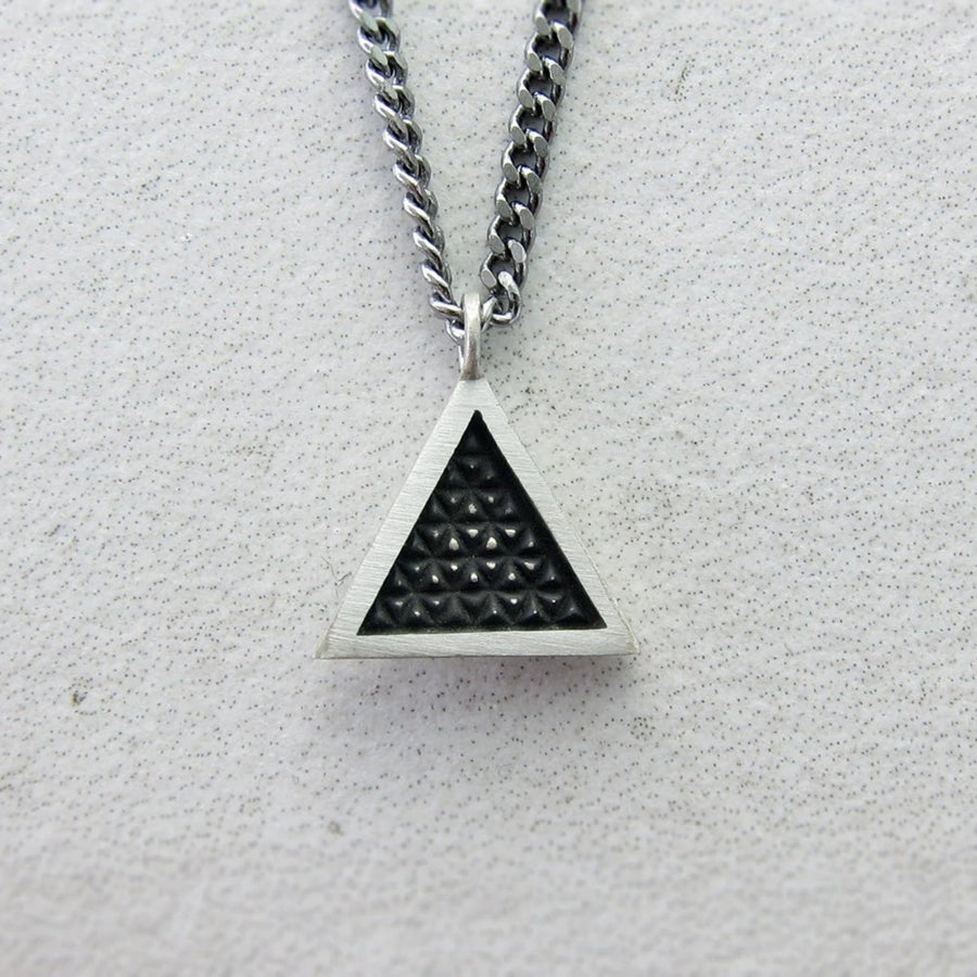 Delta Sterling Silver Necklace by Burton Metal Depository