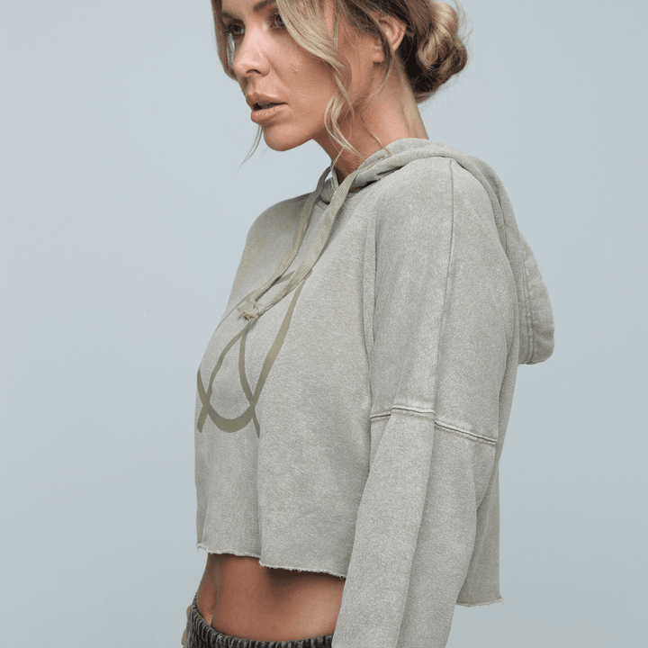 ZONE by Lydia The Hemp Cropped Hoodie