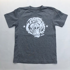 Kids Tigers Head - Athletic Grey  / white