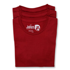 Plain T-shirts - Pack of 3 - Red (J6302)