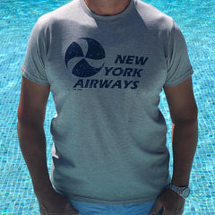 NEW YORK AIRWAYS - Athletic grey - Slim Fit