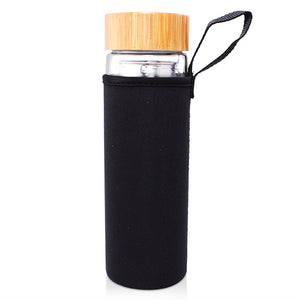 Glass Infuser Bottle with Bamboo Lid