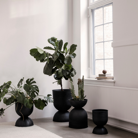 Modern plant pots indoor outdoor | Hourglass Pot and Planter Stand - Ferm Living | Batten Home