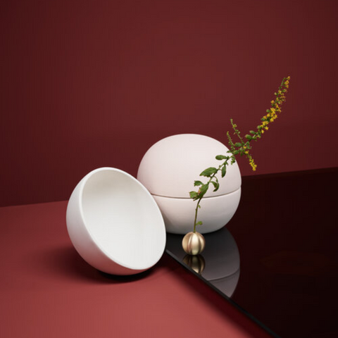 Functional modern decorative objects - Galet Ceramic Container by Light + Ladder