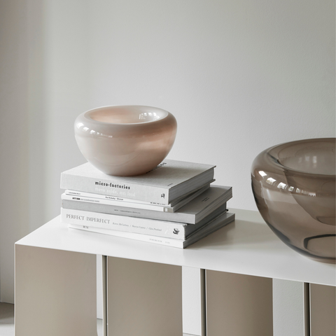 Functional modern decorative objects - Small and Large Opal Bowls by Kristina Dam Studio